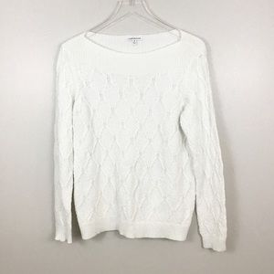 Croft & Barrow Cable Knit Scoop Neck Sweater